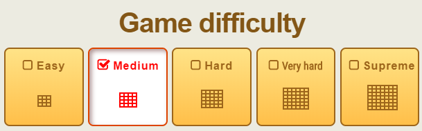 Game difficulties