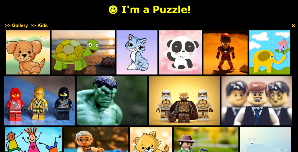 I'm a Puzzle - Kids Puzzle Gallery