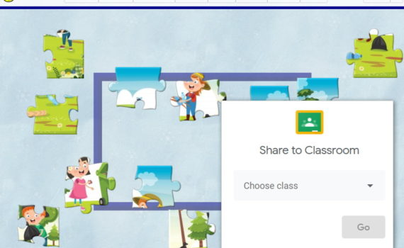 Share a puzzle to Google Classroom