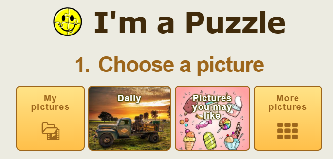 I'm a Puzzle pictures options