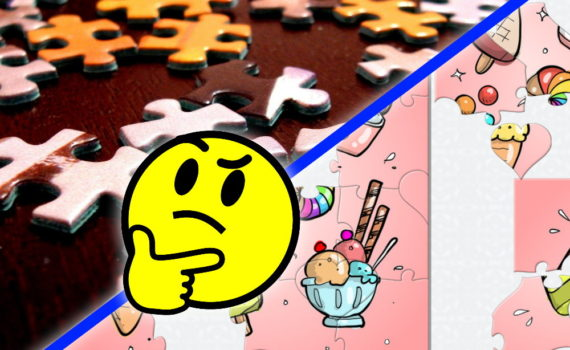Traditional vs online puzzles for kids